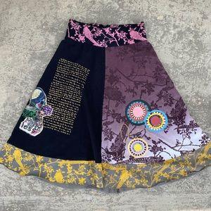 Desigual Black & Pink Adri Banded Skirt